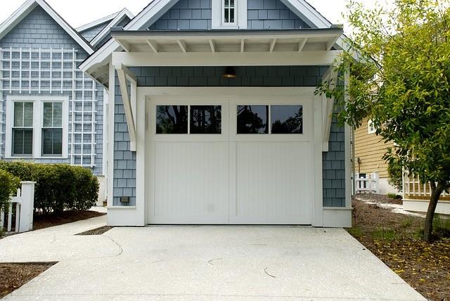 Glass-paneled Garage Door